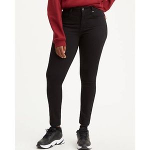 Levi's Black 721 High Rise Skinny Jeans